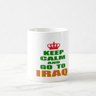 Keep calm and go to Iraq. Mugs