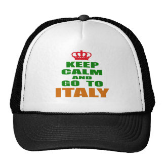 Keep calm and go to Italy. Trucker Hat