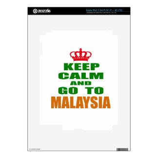 Keep calm and go to Malaysia. Skin For iPad 3