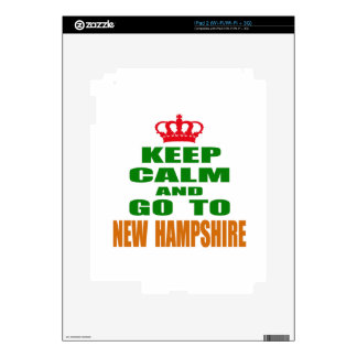 Keep Calm And Go To NEW HAMPSHIRE. iPad 2 Decal