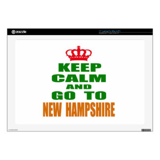 """Keep Calm And Go To NEW HAMPSHIRE. 17"""" Laptop Skins"""