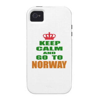 Keep calm and go to Norway. Vibe iPhone 4 Case