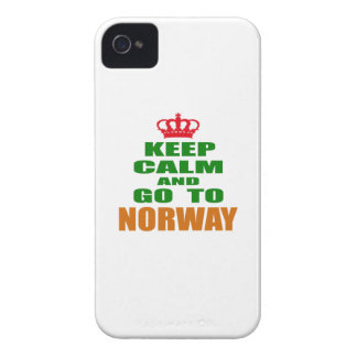 Keep calm and go to Norway. iPhone 4 Case-Mate Cases