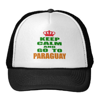Keep calm and go to Paraguay. Mesh Hat