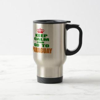 Keep calm and go to Paraguay. Mug