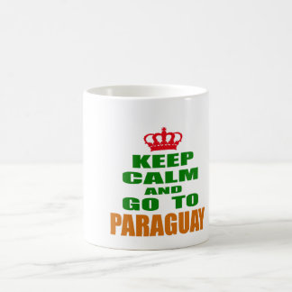 Keep calm and go to Paraguay. Mugs