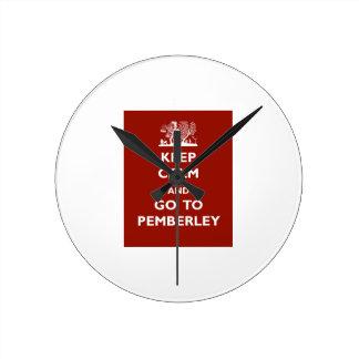 Keep Calm And Go To Pemberley Clocks