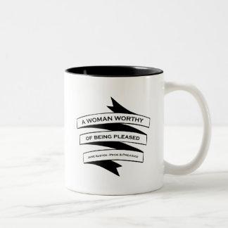 Keep Calm And Go To Pemberley Two-Tone Coffee Mug