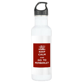 Keep Calm And Go To Pemberley Water Bottle