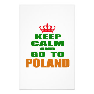 Keep calm and go to Poland. Stationery