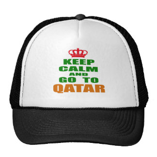Keep calm and go to Qatar. Hat