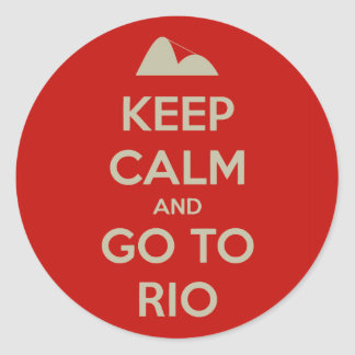 Keep Calm and go to Rio Stickers