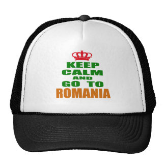 Keep calm and go to Romania. Trucker Hats