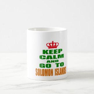 Keep calm and go to Solomon Islands. Mugs