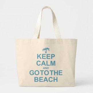Keep Calm And Go To The Beach Canvas Bags