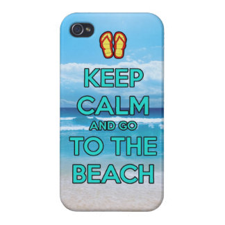 keep calm and go to the beach covers for iPhone 4