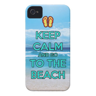 keep calm and go to the beach iPhone 4 cover