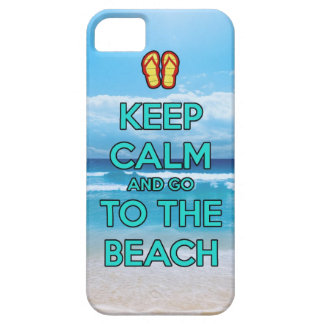 keep calm and go to the beach iPhone SE/5/5s case