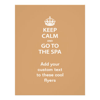 """Keep Calm and Go To the Spa 8.5"""" X 11"""" Flyer"""