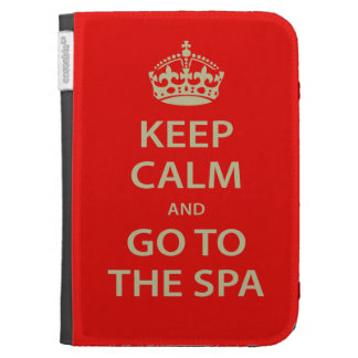 Keep Calm and Go To the Spa Kindle Folio Cases