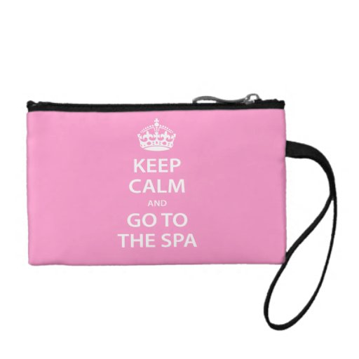 Keep Calm and Go To the Spa Coin Wallet
