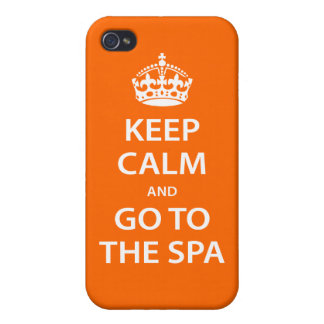 Keep Calm and Go To the Spa Covers For iPhone 4