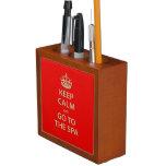 Keep Calm and Go to the Spa Desk Organizer