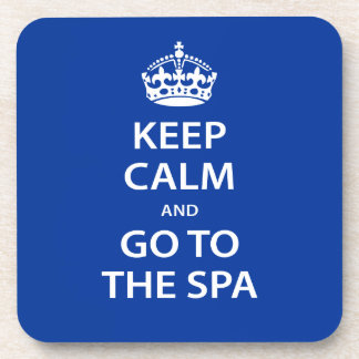 Keep Calm and Go To the Spa Drink Coaster