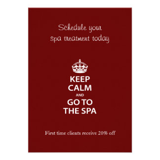 Keep Calm and Go To the Spa Custom Announcement