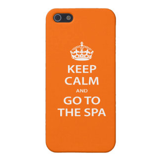 Keep Calm and Go To the Spa iPhone SE/5/5s Cover