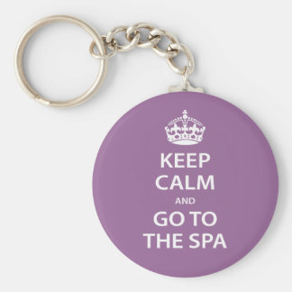 Keep Calm and Go To the Spa Keychain