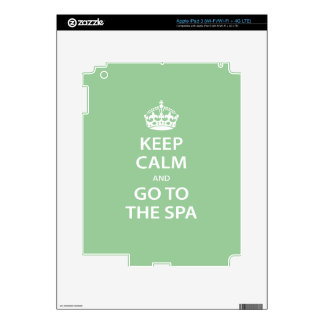 Keep Calm and Go To the Spa Skins For iPad 3