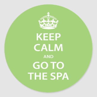 Keep Calm and Go To the Spa Stickers