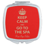 Keep Calm and Go to the Spa Travel Mirrors