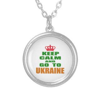 Keep calm and go to Ukraine. Custom Necklace