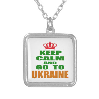 Keep calm and go to Ukraine. Necklace