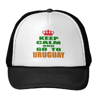 Keep calm and go to Uruguay. Mesh Hat
