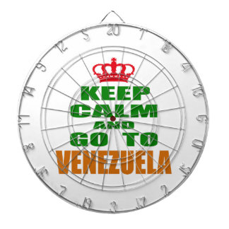 Keep calm and go to Venezuela. Dart Board