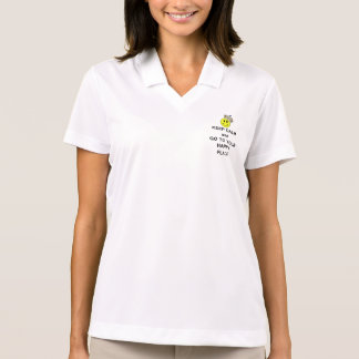 Keep Calm and Go to Your Happy Place Smiley Crown Polo Shirt