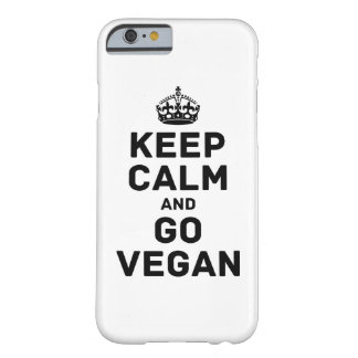 Keep calm and go vegan barely there iPhone 6 case