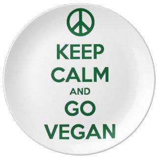 Keep Calm and GO VEGAN Dinner Plate