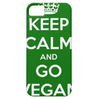 Keep Calm and GO VEGAN iPhone SE/5/5s Case
