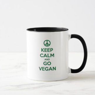 Keep Calm and GO VEGAN Mug