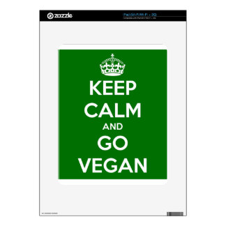 Keep Calm and GO VEGAN Skins For The iPad