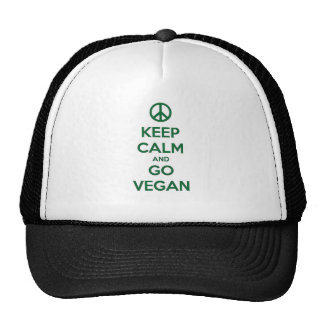 Keep Calm and GO VEGAN Trucker Hat