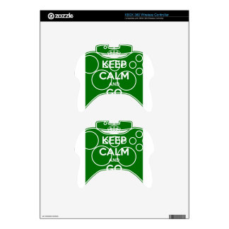 Keep Calm and GO VEGAN Xbox 360 Controller Skin