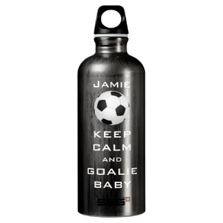 KEEP CALM AND GOALIE BABY PERSONALIZED SOCCER SIGG TRAVELER 0.6L WATER BOTTLE