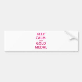 Keep Calm and Gold Medal Bumper Sticker