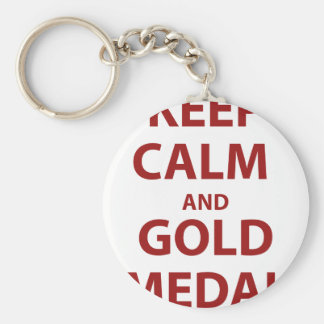 Keep Calm and Gold Medal Keychains