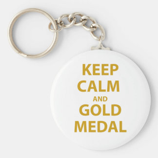 Keep Calm and Gold Medal Keychain